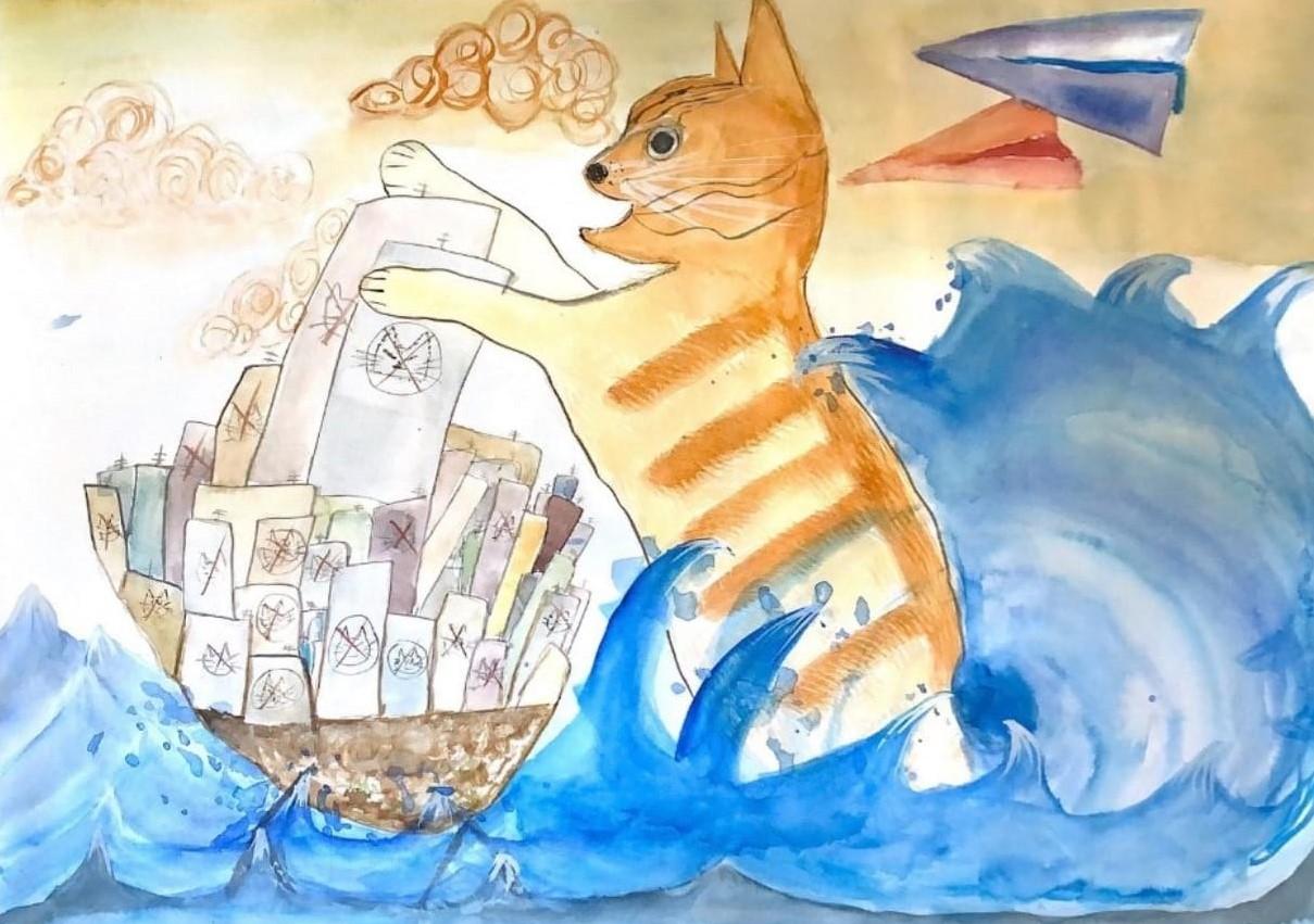 4A 吳汶蔚  飄海人類之惡貓入侵