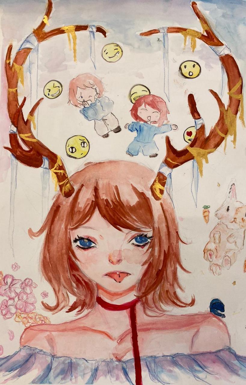 4A 余喜欣  名字:鹿·我·情緒